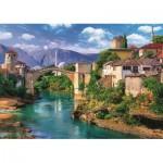 Puzzle  Trefl-37333 Vieux Pont à Mostar, Bosnie Herzégovine