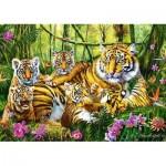 Puzzle  Trefl-37350 Famille de Tigres