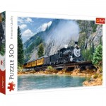 Puzzle  Trefl-37379 Train dans la Montagne