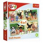 Puzzle   4 in 1 - Bing's Happy Day