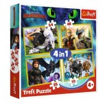 4 Puzzles - Dreamworks - Dragons
