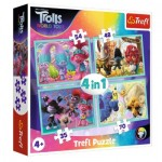 4 Puzzles - Dreamworks - Trolls World Tour