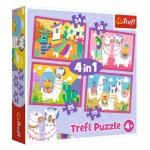 4 Puzzles - Llamas on Vacation