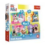 4 Puzzles - The Secret Life of Pets 2