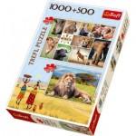 Trefl-90482 2 Puzzles - Afrique