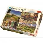 Trefl-90673 4 Puzzles - Italie