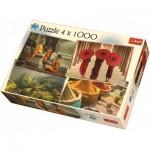 Trefl-90675 4 Puzzles - Asie