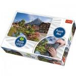 Tapis + Puzzle - Chalets dans la Montagne