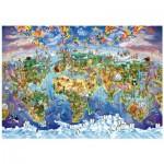 Wentworth-702513 Puzzle en Bois - World Wonders
