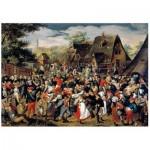 Puzzle en Bois - Brueghel - The Village Festival