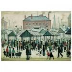 Puzzle en Bois - Market Scene, Northern Town, 1939