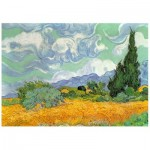 Puzzle en Bois - Van Gogh - Wheat Field with Cypresses