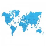 Puzzle en Bois - Carte du Monde XL (Cyan)