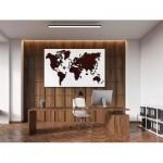 Wooden-City-WM504/2-8244 Puzzle en Bois - Carte du Monde XL (Chêne Foncé)