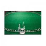 Wooden-City-WR324-8480 Puzzle 3D en Bois - Rails Ronds + Croisement