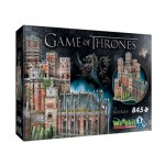 Wrebbit-3D-2017 Puzzle 3D - Game of Thrones - Le Donjon Rouge