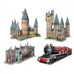 Wrebbit-Set-Harry-Potter-1 4 Puzzles 3D - Set Harry Potter (TM)