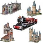 Wrebbit-Set-Harry-Potter-3 5 Puzzles 3D - Set Harry Potter
