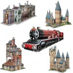 Wrebbit-Set-Harry-Potter-3 5 Puzzles 3D - Set Harry Potter (TM)