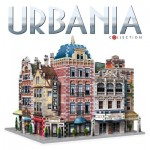 Wrebbit-Set-Urbania Puzzle 3D - Collection Urbania - Café, Cinéma, Hôtel
